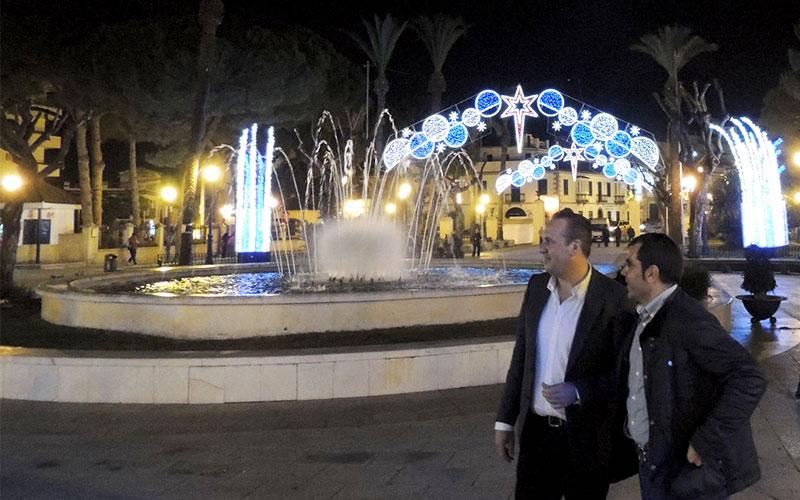 San roque ya luce su especial iluminaci n de navidad - Iluminacion de navidad ...