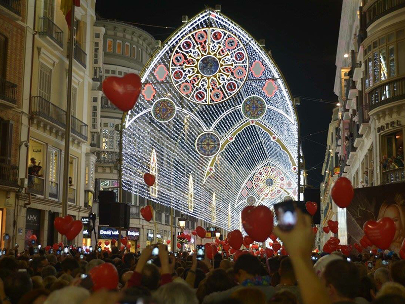 Las luces de la Navidad 2017 de Málaga (Ayto.)