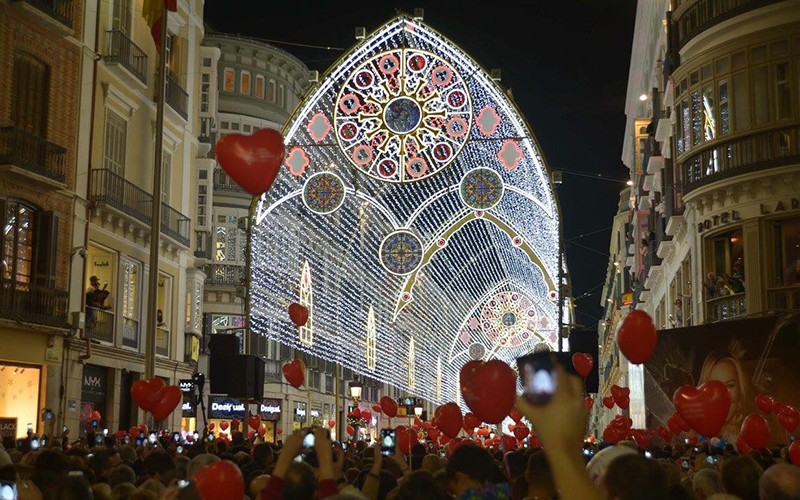 Malaga luces Navidad 2017 a