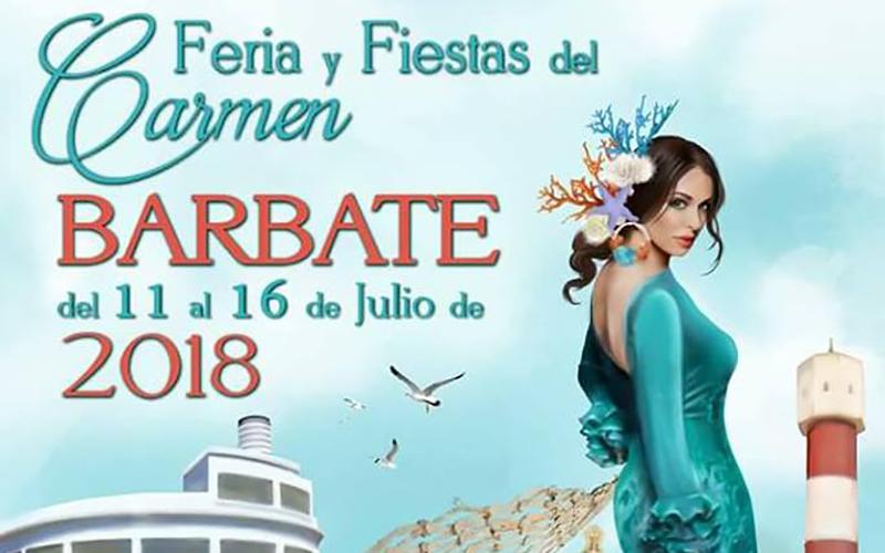Barbate cartel Feria y Fiestas del Carmen 2018 pr
