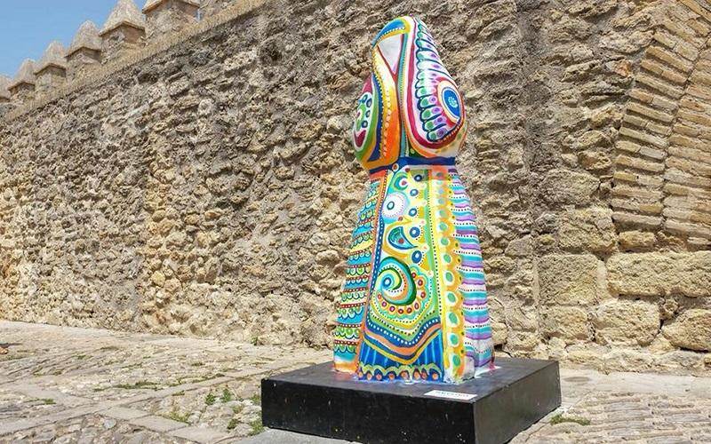Vejer exposicion cobijadas decoradas foto Ayuntamiento 1