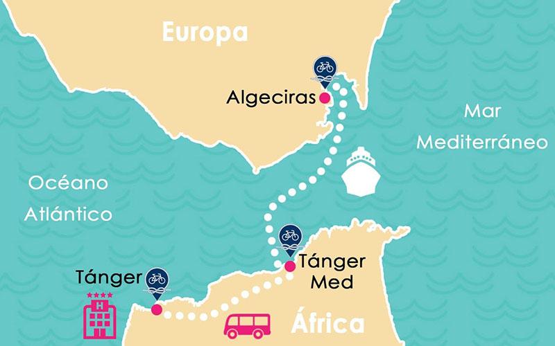 Cruzando el Estrecho de Gibraltar en Bicicleta 2