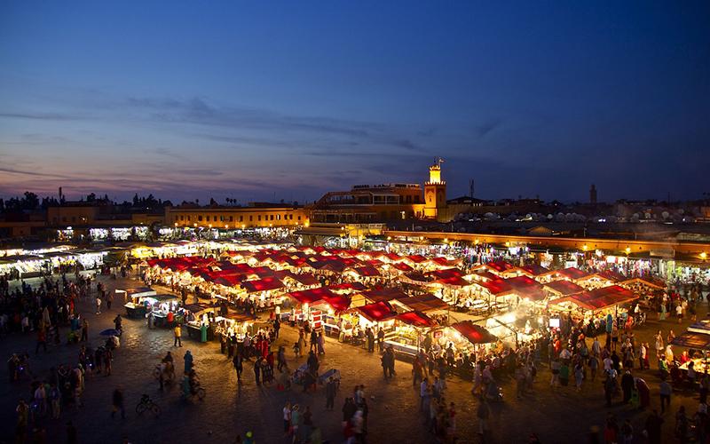 Marrakech-plaza-de-Jamaa-El-Fna
