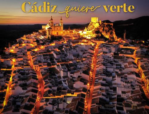 Olvera de noche (Diputación de Cádiz)